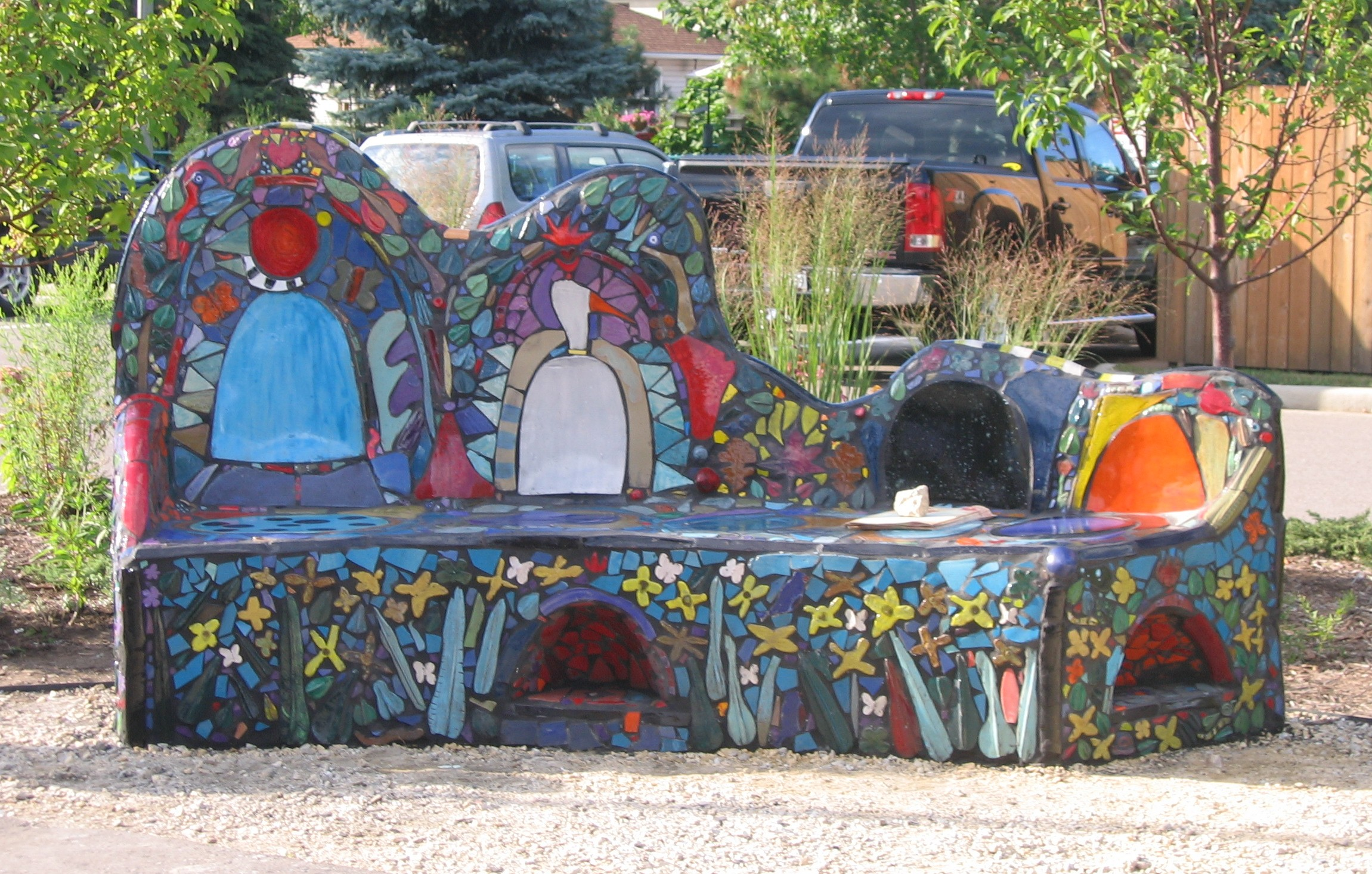 """Butterfly Bench"" - Great River Road Visitor and Learning Center, Prescott, WI"